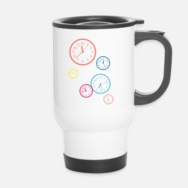 Clock tick tack clock coloré - Mug thermos