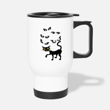Black cat - Travel Mug