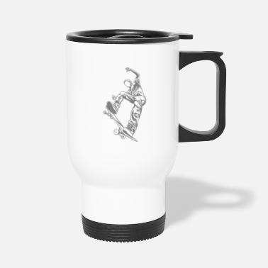 Skateboard Skateboarder with skateboard - Travel Mug