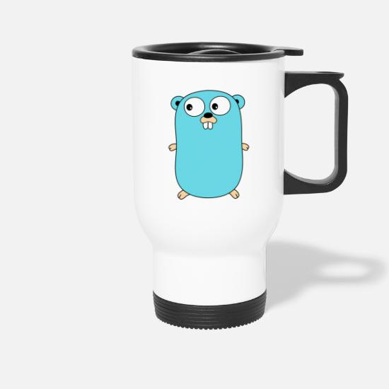Web Mugs & Drinkware - Golang - Gopher - Travel Mug white