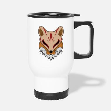 Red | White | Fox | Head | forehead | Symbol | Eyes - Travel Mug