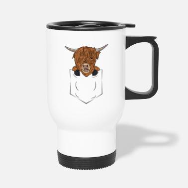 Kälbchen Scottish Highland Cattle Bag Highland Cattle Cow - Travel Mug