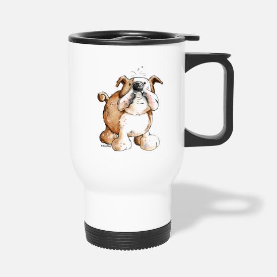 6f6b18a8 Engelsk Kopper & tilbehør - Morsom Engelsk bulldog - Termokrus hvit