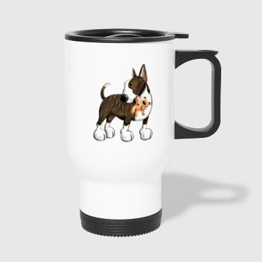 Bullterrier with Teddy - Travel Mug