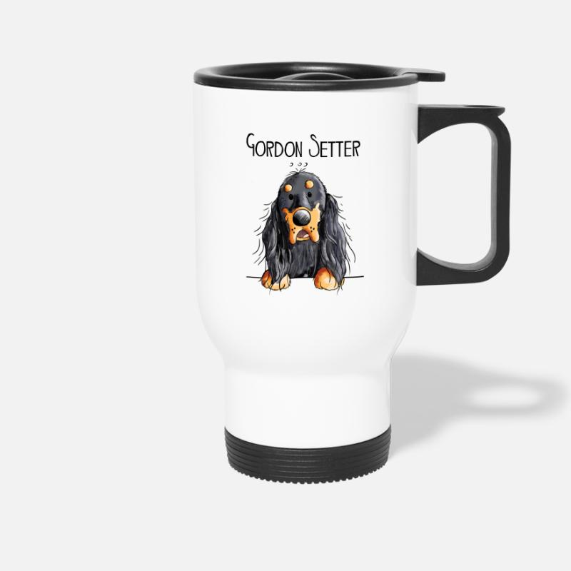 Dog Mugs & Drinkware - Funny Gordon Setter - Dog - Dogs - Gift - Cartoon - Travel Mug white
