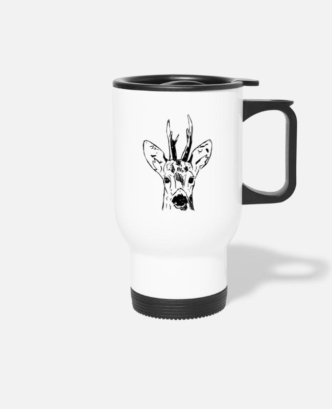 Stag Mugs & Drinkware - Ree - Travel Mug white