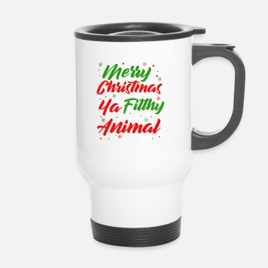 Dirty Sayings Christmas | Christmas saying dirty animal - Travel Mug