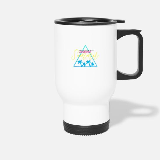Fête Mugs et récipients - AWESUNNY #NEW #TREND #STYLE - Mug isotherme blanc