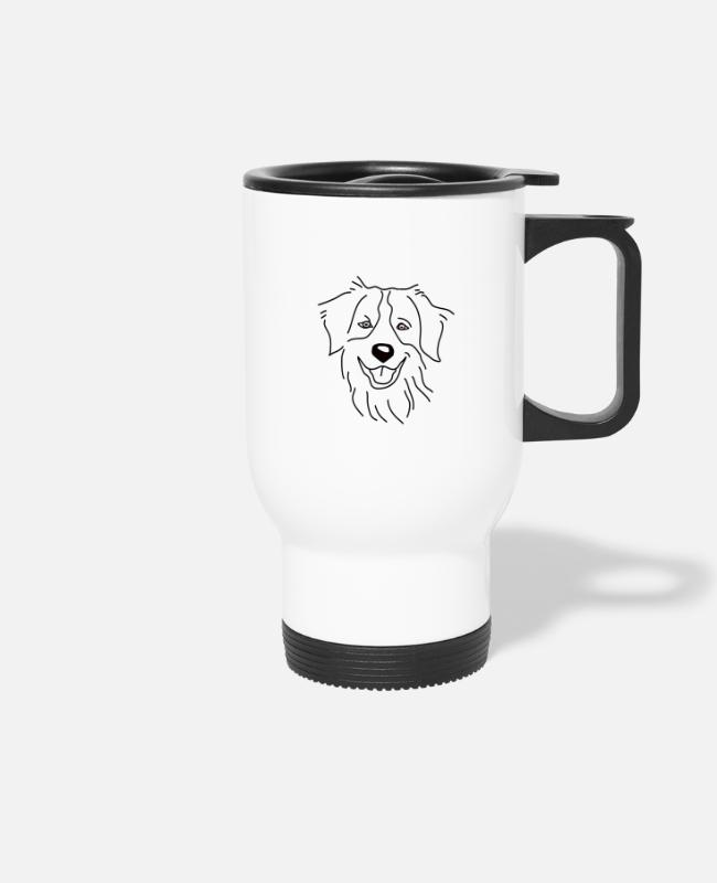 Aussie Mugs & Drinkware - Australian Shepherd Shirt Hund Dogshirt Love Heart - Travel Mug white