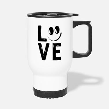 Love With Hearts Love Smile Love Hearts Hearts Laugh Happy - Travel Mug