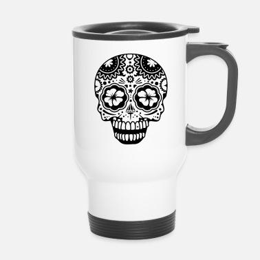 Dans Sucre Un Le Style Crânes Mug Blanc Riant De Thermos Crâne Rj43q5AL