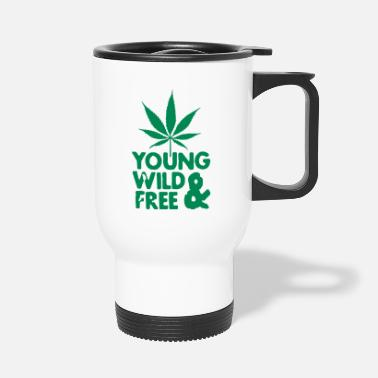 Young Wild And Free young wild and free weed leaf - Thermosbeker