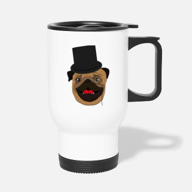 Wealthy The wealthy Pug - gift idea, monocle - Travel Mug
