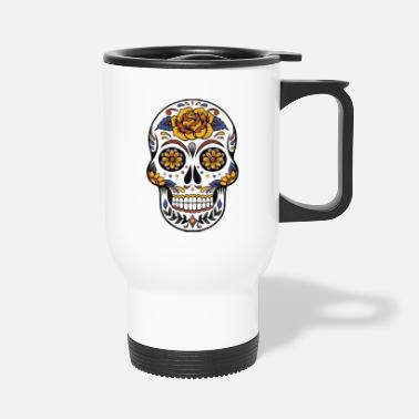 Pretty cute skull colorful dead head style cranium - Mug isotherme