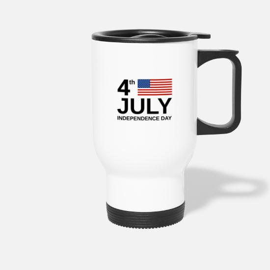 United Kingdom Mugs & Drinkware - USA Flag Independence Day 4th of july eagle - Travel Mug white