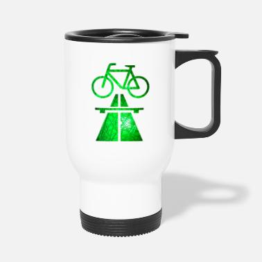 Cycling routes, Cycling trails - Travel Mug