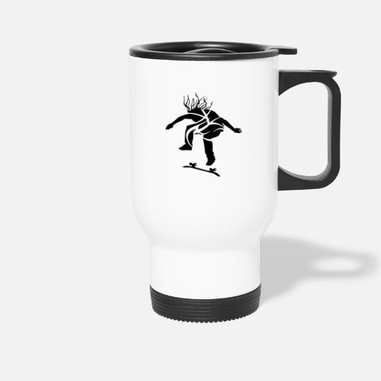 Sk8 Mugs & Drinkware - Skateboarder - Travel Mug white