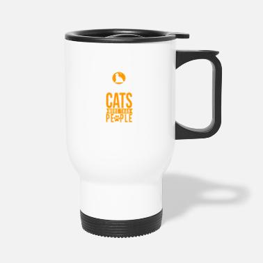 Like Like cats more than people - Travel Mug