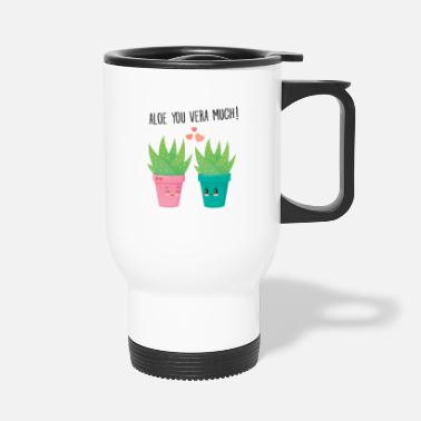 Urodziny Aloe You Vera Much - Cute Love Couple Gift Idea - Kubek termiczny
