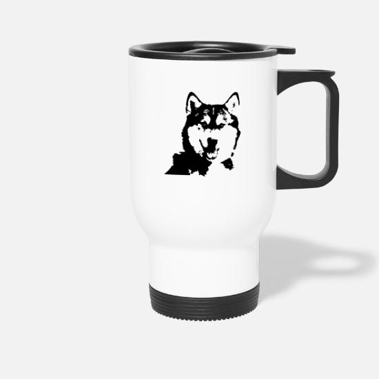 Boss Mugs & Drinkware - Alaskan Malamute head - Travel Mug white