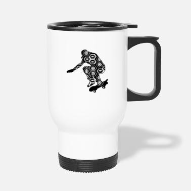 Skateboard Skateboarder - Travel Mug