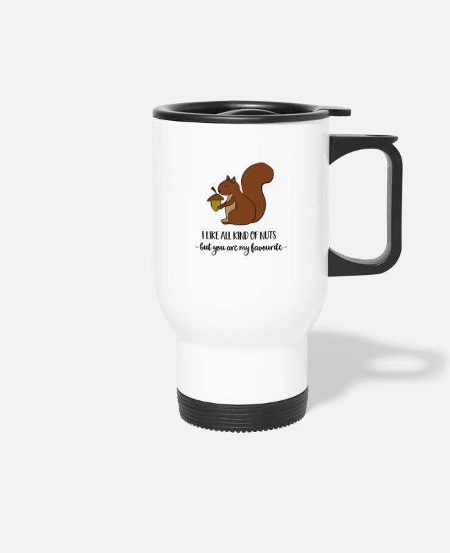 Wacky Mugs & Drinkware - squirrel - Travel Mug white