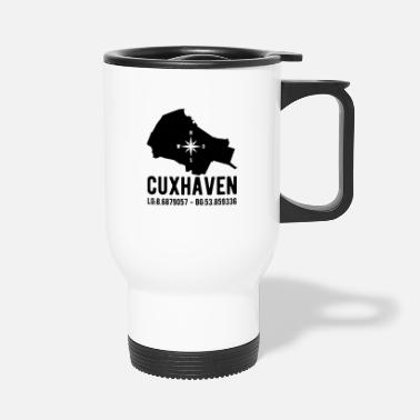 Latitude Cuxhaven latitude latitude city outline - Travel Mug