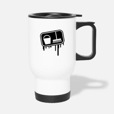 Janitor putzen_grunge_icon_1 - Travel Mug