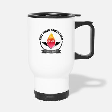 Heart fire power team - Travel Mug