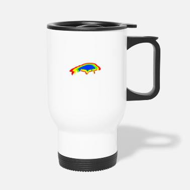 Carp fishing rainbow - Travel Mug
