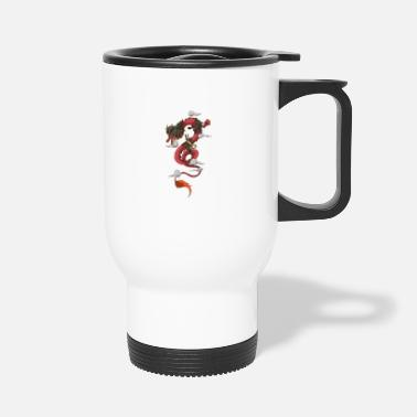 Asiatique Samurai Dragon Dragon Flying Asia Mythe Aïkido - Mug isotherme