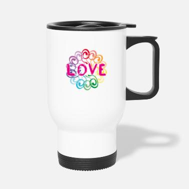 Global Peace World Peace Flower Power Gift 70s Love - Travel Mug