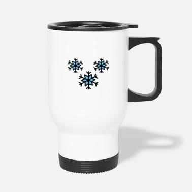 Snowflake snowflakes - snowflakes drawing - Travel Mug