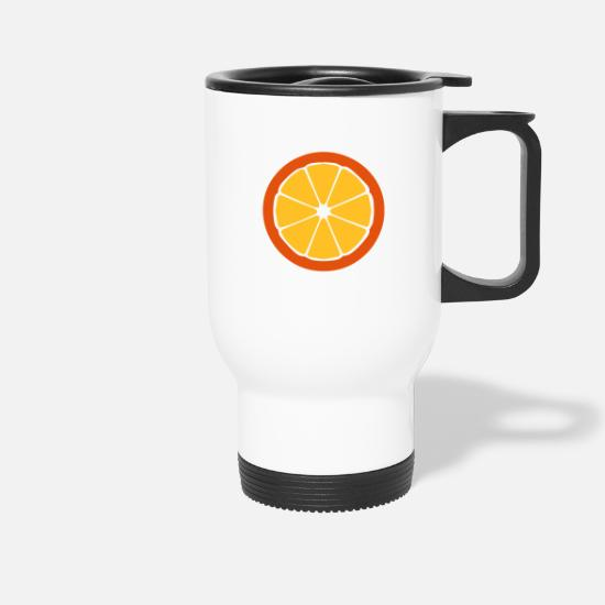 Limonade Tassen & Becher - Orange - Thermobecher Weiß