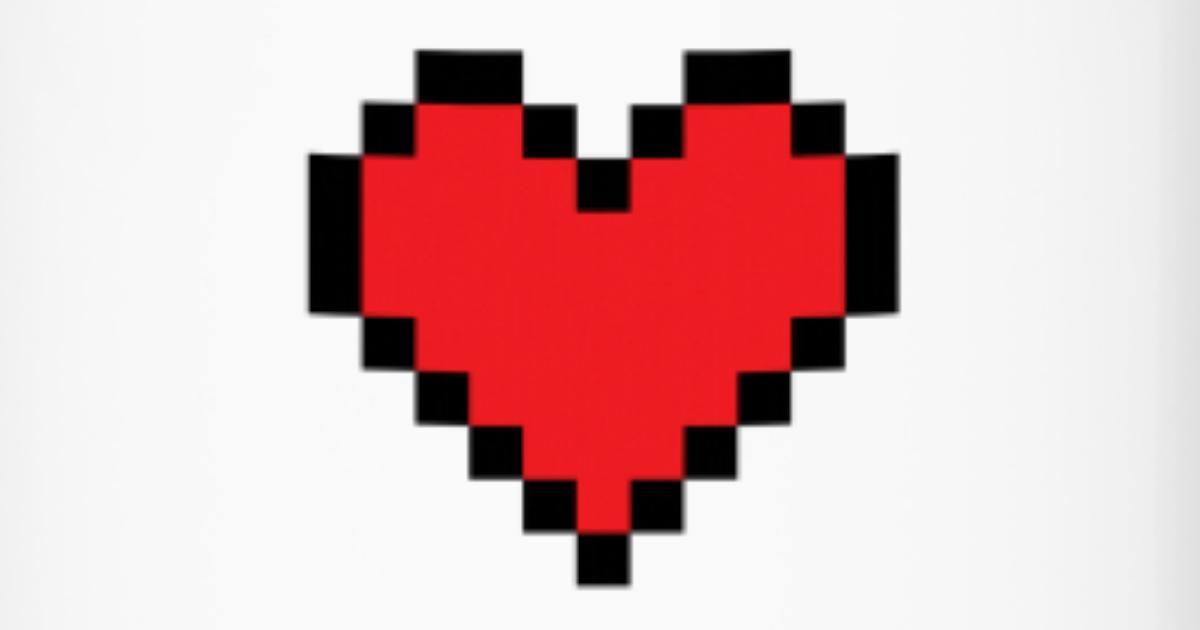 Coeur De Pixel Mug Isotherme Spreadshirt