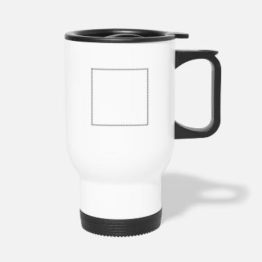 Rectangle Quadrat gepunktet - Travel Mug