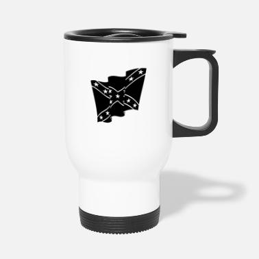 Dixie Rebel Flag / Dixie Flag / Südstaatenflagge (1C) - Travel Mug