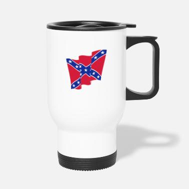 Dixie Rebel Flag / Dixie Flag / Südstaatenflagge (2C) - Travel Mug