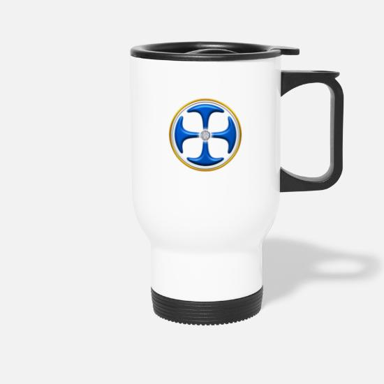 Ange Mugs et récipients - The golden key, power symbol for the ascent, DD, - Mug isotherme blanc