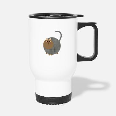 Brown Brown Cat - Brown Cat - Travel Mug