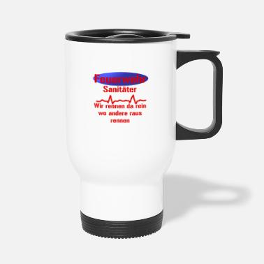 Fighter Fire fighter sanitary - Travel Mug