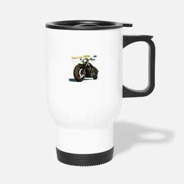 Race Motorcycle T-Shirt racing in design - Travel Mug