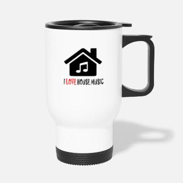 House House Music House-feesthemd - Thermosbeker