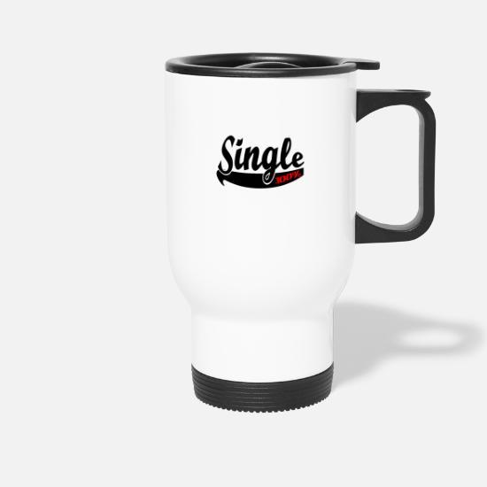 Single Mugs & Drinkware - Single flirting party - Travel Mug white