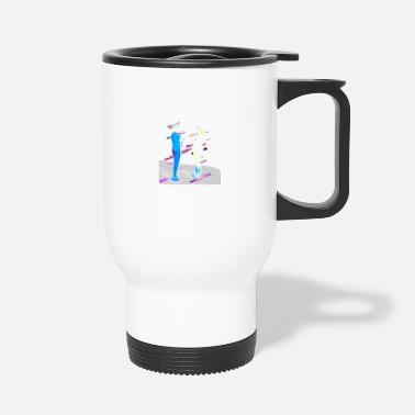Pair of Partnership 80s Retro Violet - Travel Mug