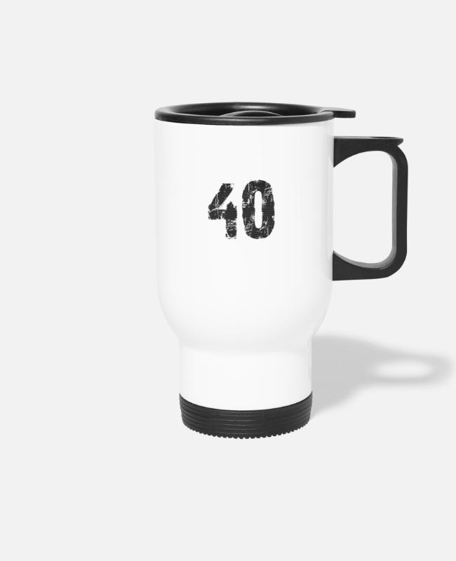 Number Mugs & Drinkware - number - Travel Mug white