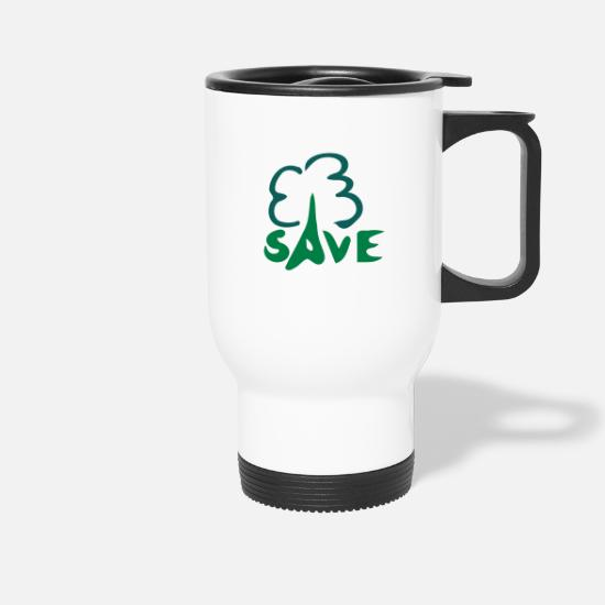 Save Mugs & Drinkware - Save Tree - Travel Mug white