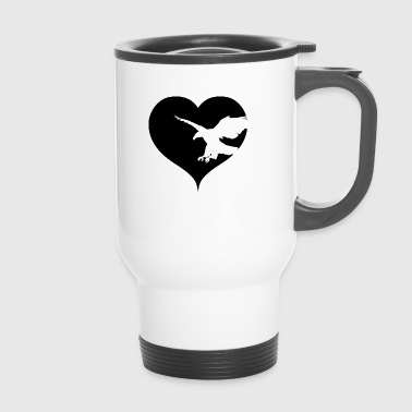 Heart eagle bird of prey - Travel Mug