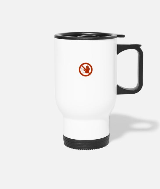 Careful Mugs & Drinkware - Caution sign - Travel Mug white