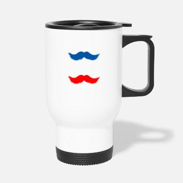 Mustache france movemb - Travel Mug